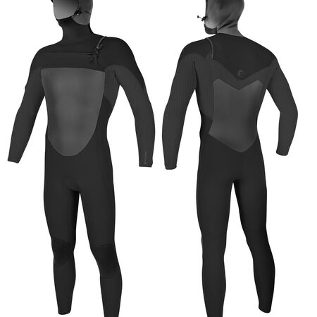 Original 6/5/4mm chest zip hooded full wetsuit