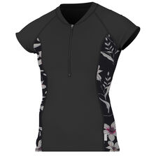 Skins front-zip cap sleeve sun shirt womens