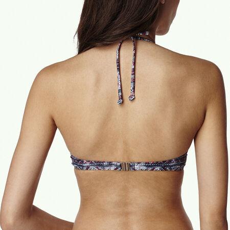 Print Crossover Bikini Top