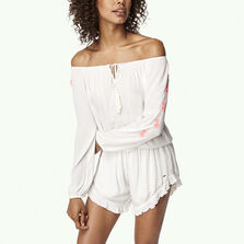 Embroidered Longsleeve Playsuit