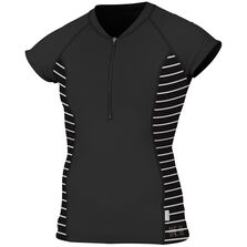 Skins front-zip cap sleeve womens
