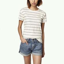 Wide Stripe Crew T-Shirt