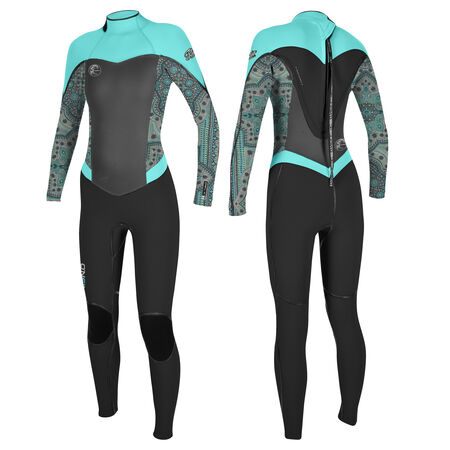 Flair zen zip 4/3mm full wetsuit womens