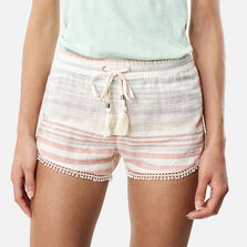 Jacquard Lace Detail Beach Short
