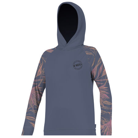 Skins long sleeve print hoody womens