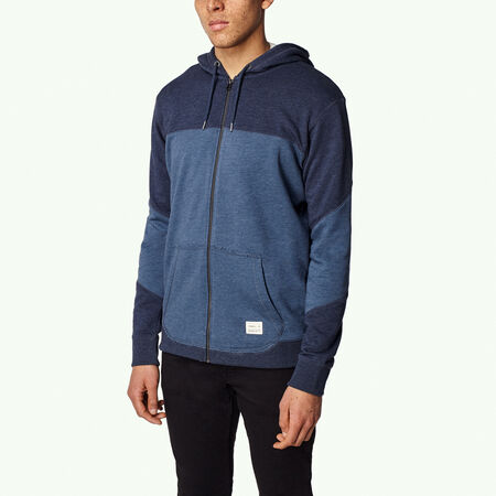 Blocked Full Zip Hoodie