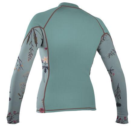 Skins front zip long sleeve rash guard womens