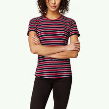 Wide Stripe Crew T-Shirt