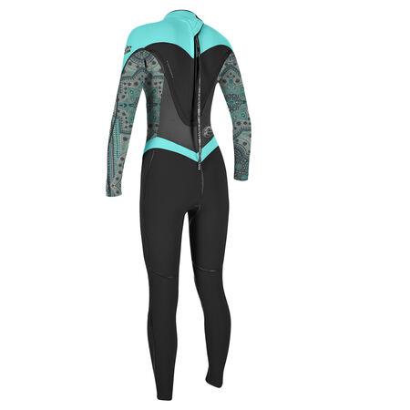 Flair zen zip 4/3mm full wetsuit womens