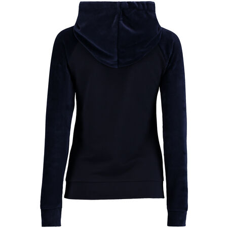 Over the head Velour Mix Hoodie