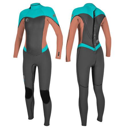 Flair zen zip 3/2mm full wetsuit womens