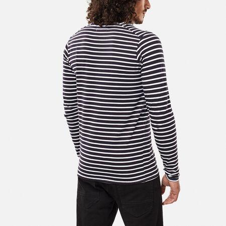 Legacy stripe l/slv top