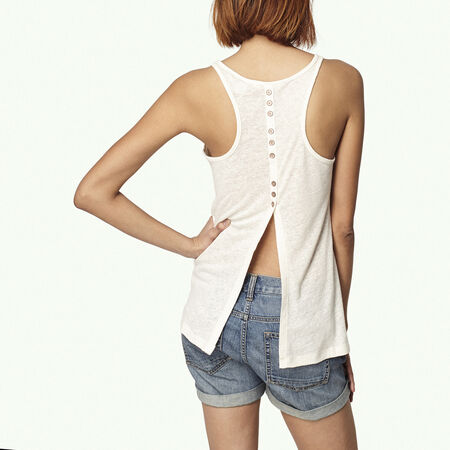 Back Detail Linen Tanktop
