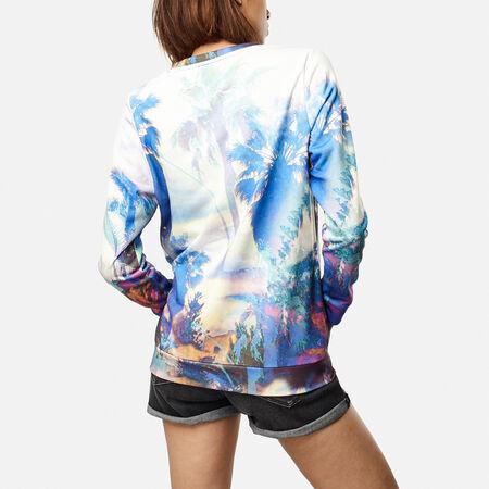 Summer Print Crew Sweatshirt