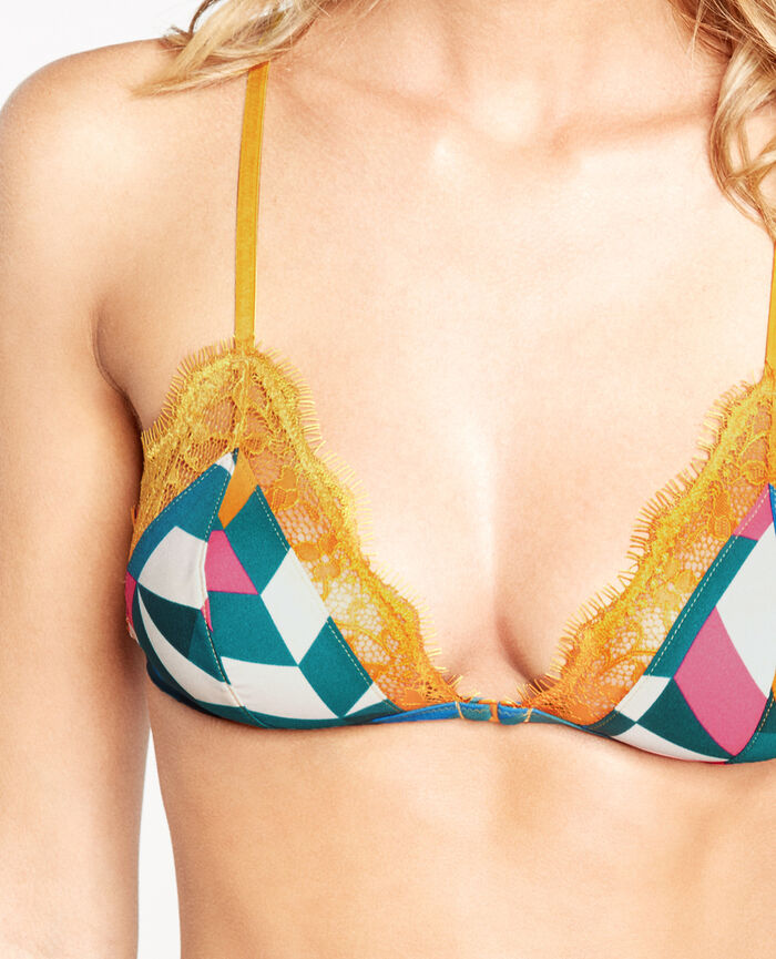 JACKPOT Colour block Soft cup bra
