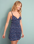 Slip dress Flower blue Take away