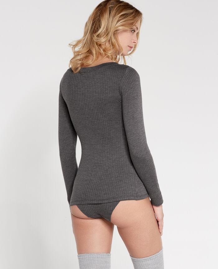 Long-sleeved t-shirt Flecked grey Infinity