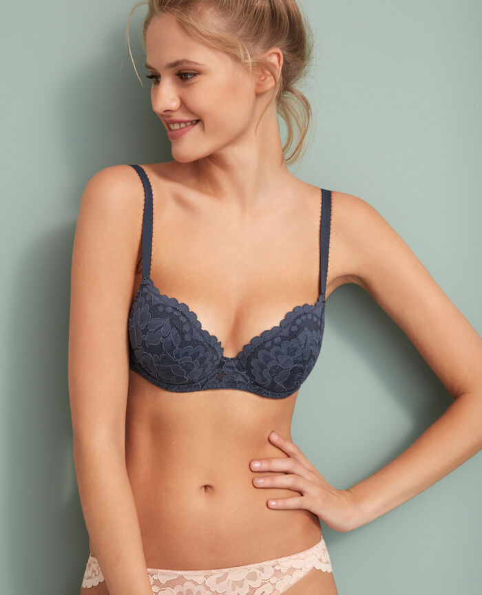 Padded push-up bra Subway grey Angelina