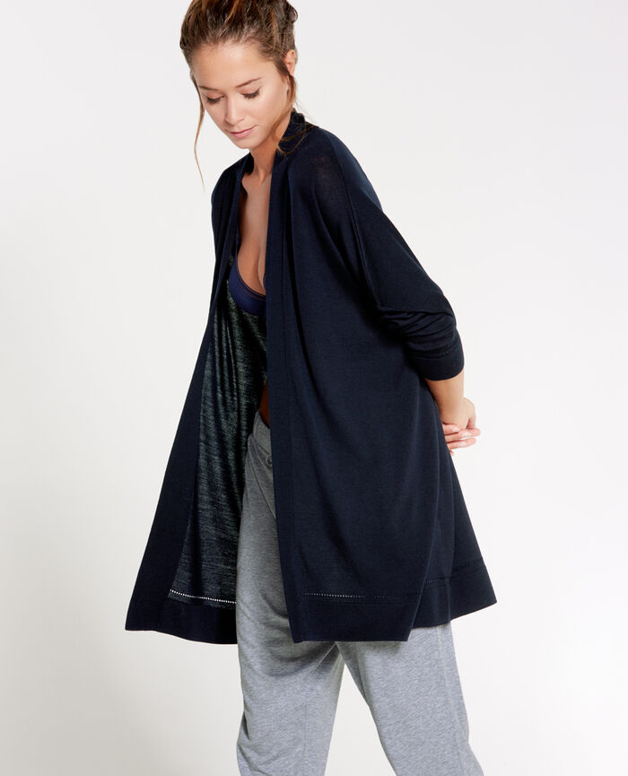 EXTRA Abyss blue Long-sleeved cardigan