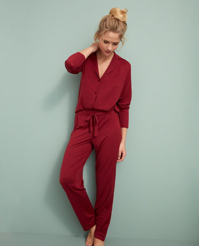 Trousers Leather red Latte