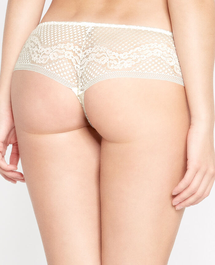 VERTIGE Cream white Brazilian briefs