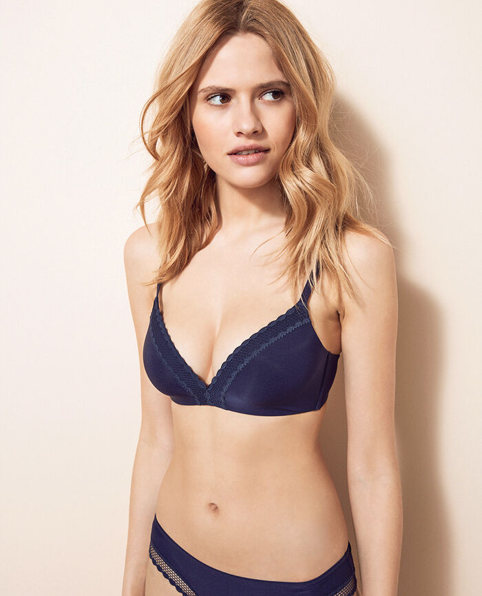 Spacer soft-cup bra Storm blue Air lingerie