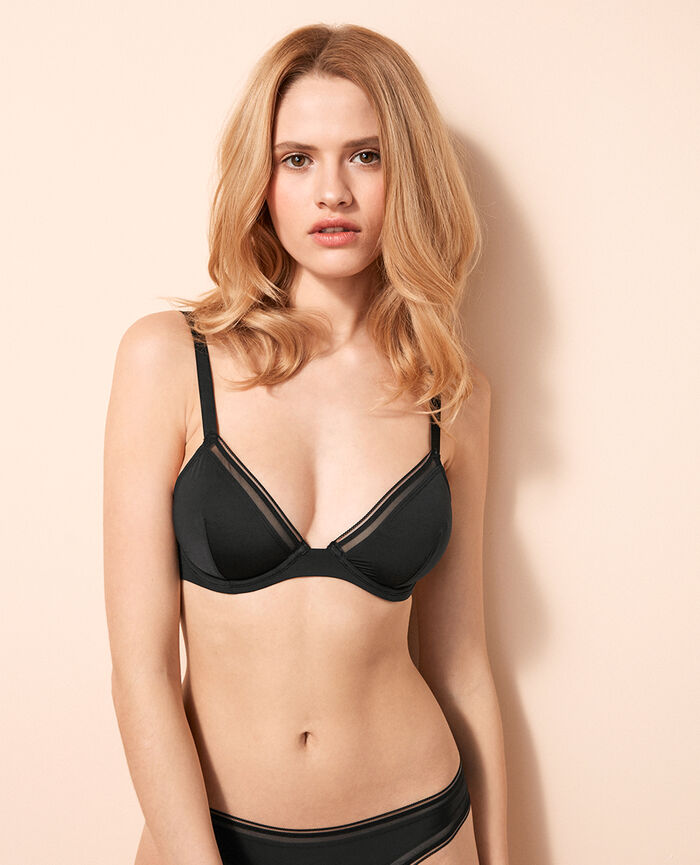 Mini-wire triangle bra Black Make up