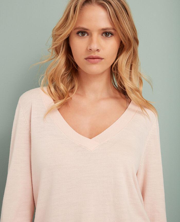V-neck jumper Lychee pink Extra
