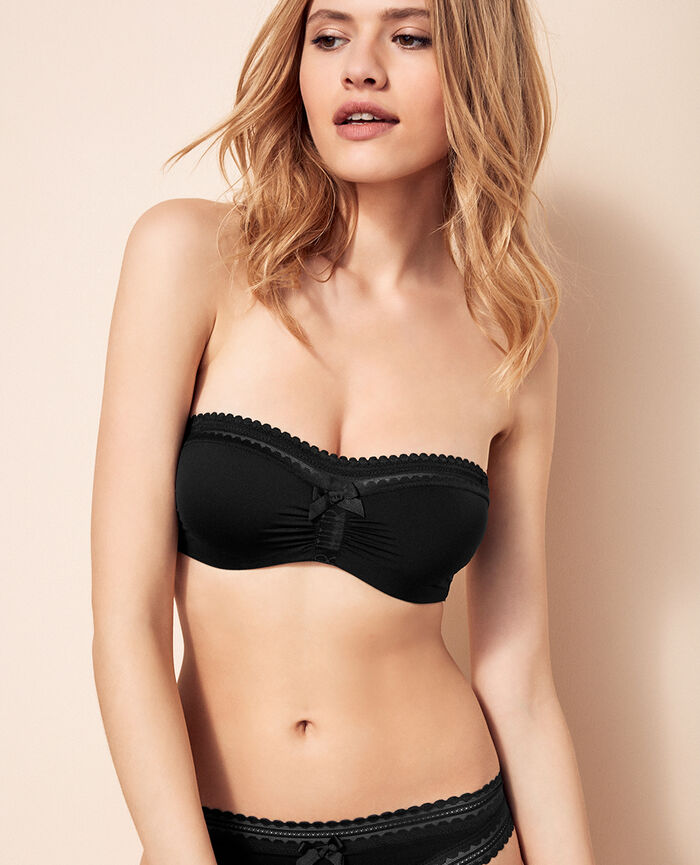 BEAUTE Black Strapless bra