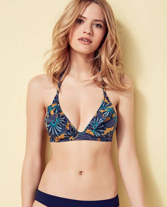 Triangel-Bikini-Oberteil mit Mini-Wire Bunt WAX