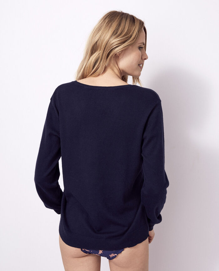 V-neck jumper Navy Kanou
