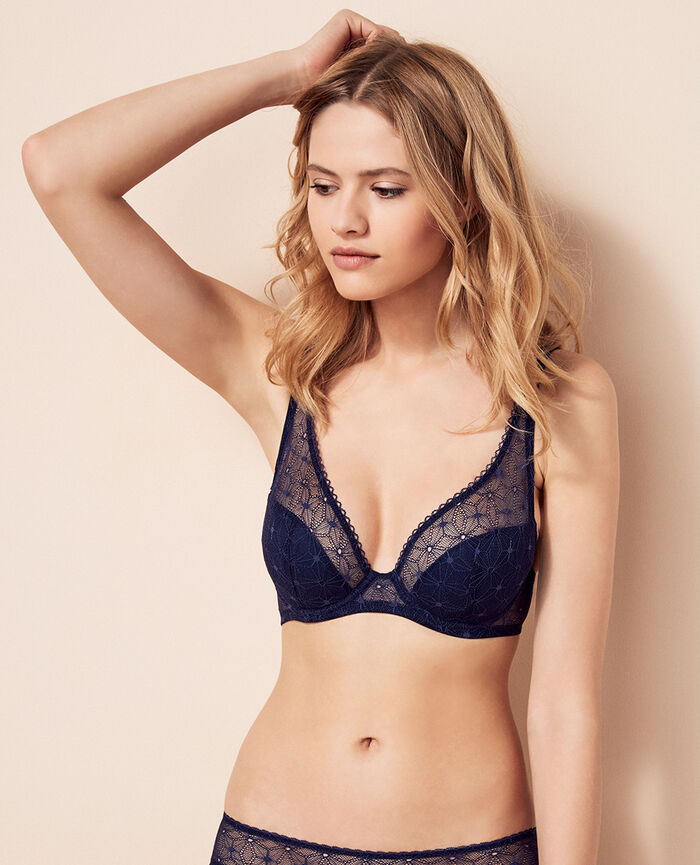 Demi push-up bra Denim blue Voodoo