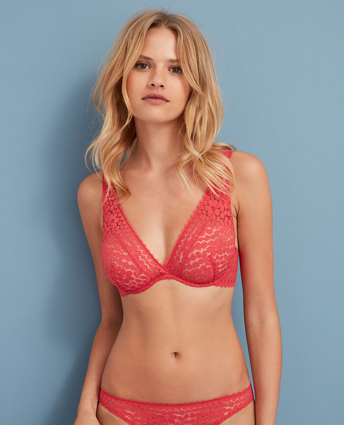 Underwired triangle bra Mademoiselle rose Monica