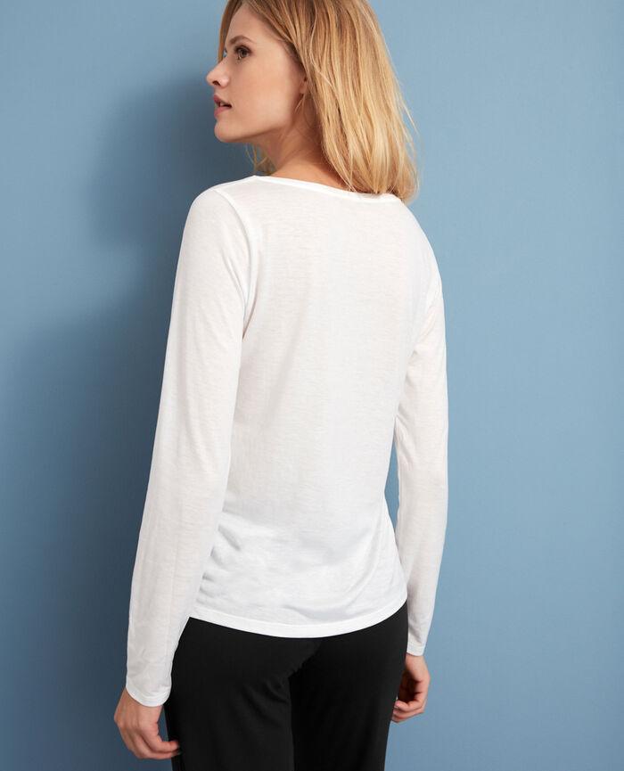 T-shirt manches longues Ivoire Latte