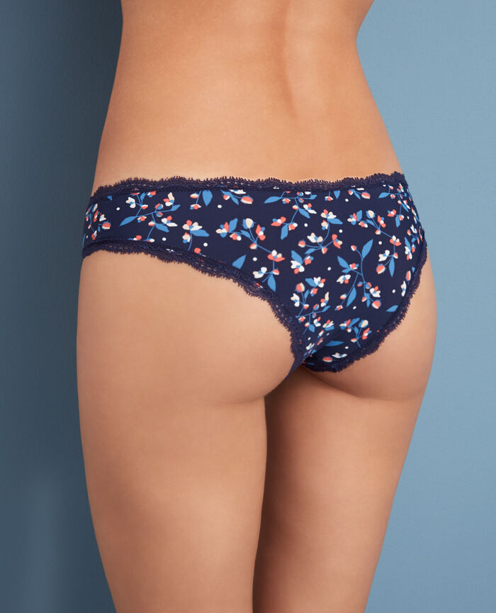 Brazilian briefs Flower blue Take away