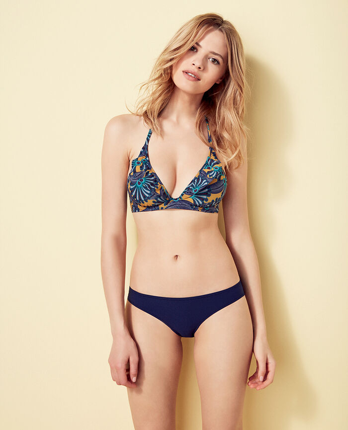 Mini-wire triangle bikini top Multicolour Wax