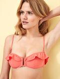 Strapless bikini top Funky pink Soa