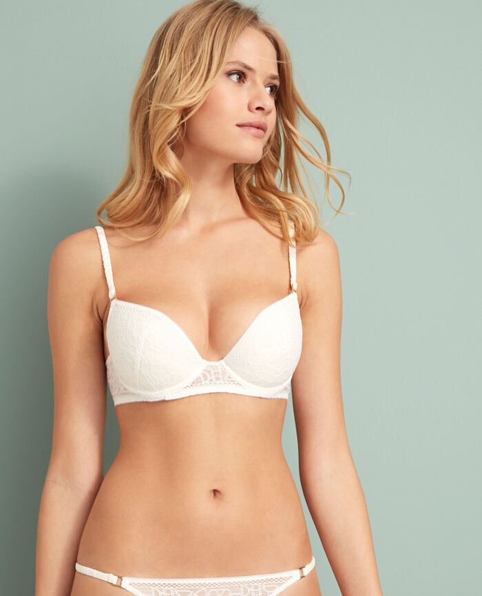 Soutien-gorge push-up mousses Blanc rosé Manhattan