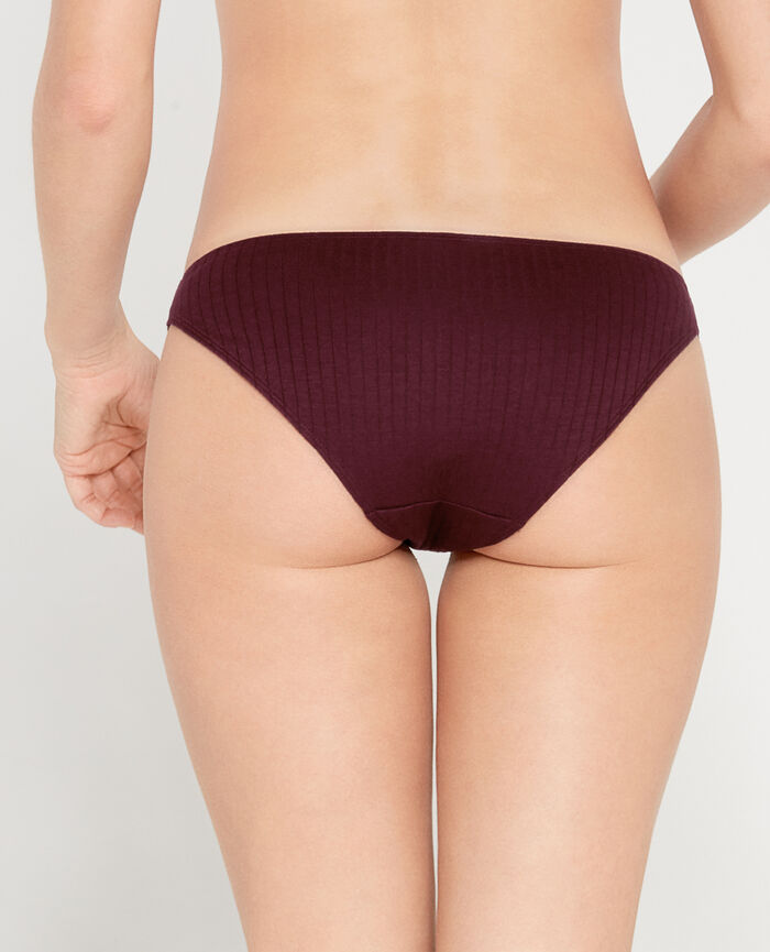 INFINITY Chocolat royal Culotte taille basse