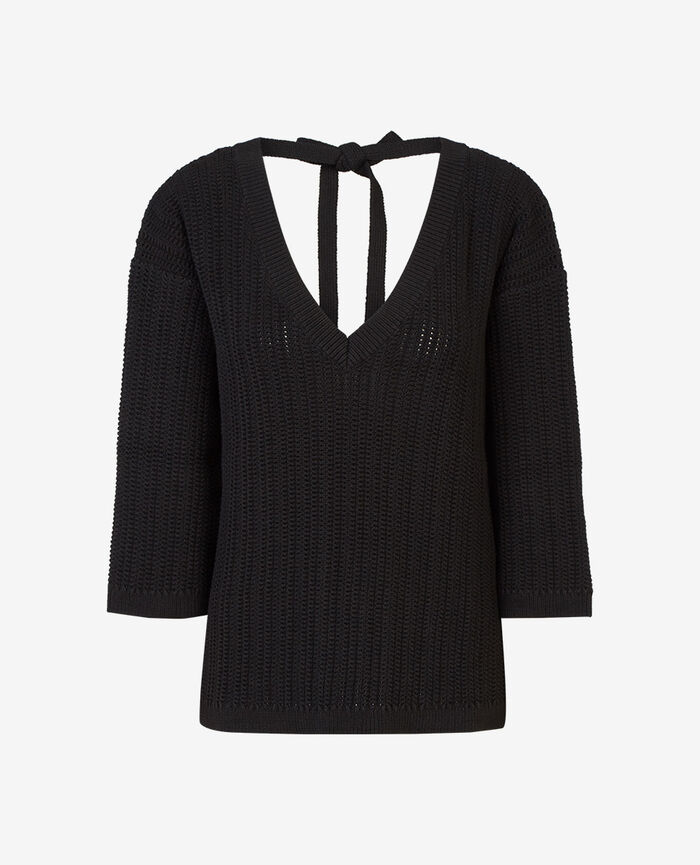 V-neck jumper Black Meloe