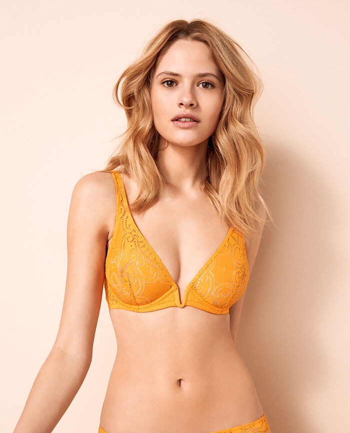 Underwired triangle bra Banana yellow Evasion