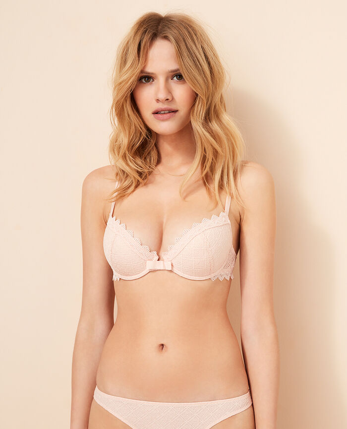 Soutien-gorge push-up mousses Rose lytchee Insolente