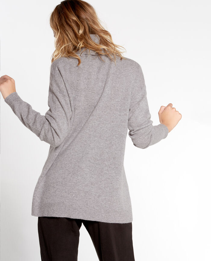 COZY Light grey Turtle-neck jumper