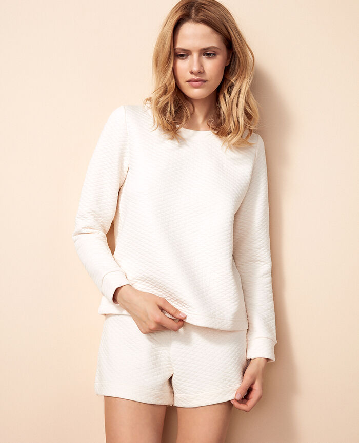 Sweater Rose white Fancy sweat