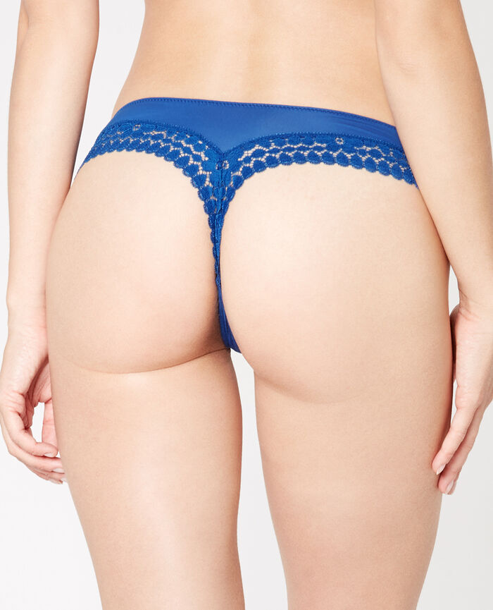 MONICA Neoprene blue Tanga
