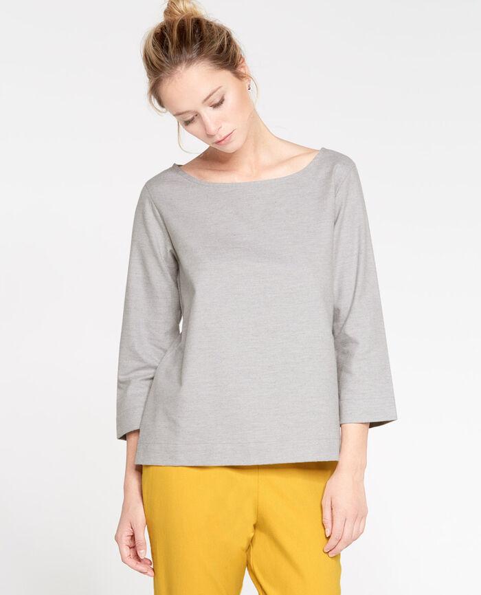 SOFT Flecked grey Top