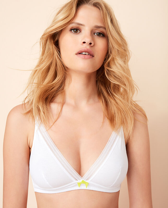 Soft cup bra White Coton