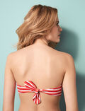 Padded strapless bikini top Pink stripes Princesse tam.tam x uniqlo