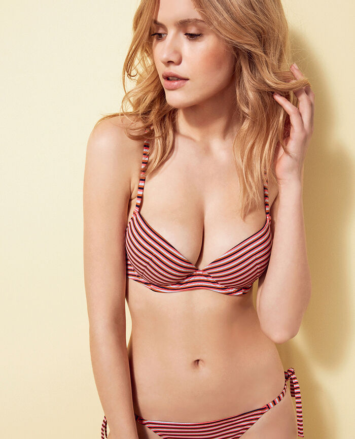 Push-up bikini top Multicolour Tiger