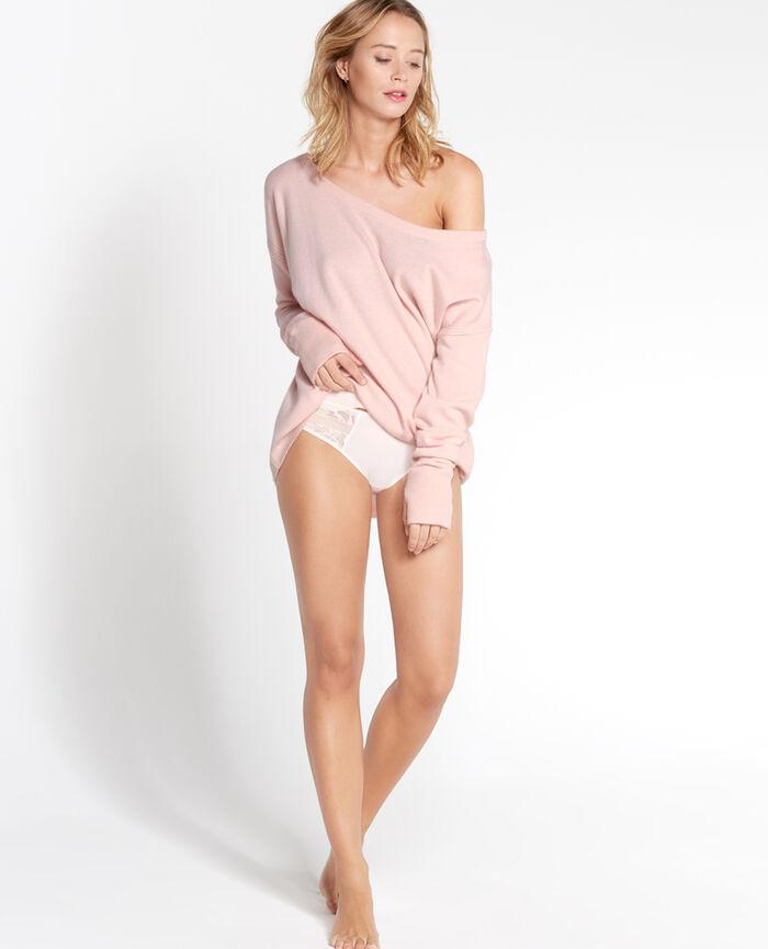 COZY Milky pink Boatneck jumper